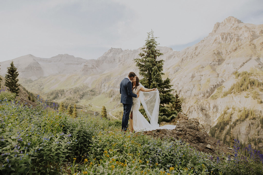 married in colorado in the mountains.
