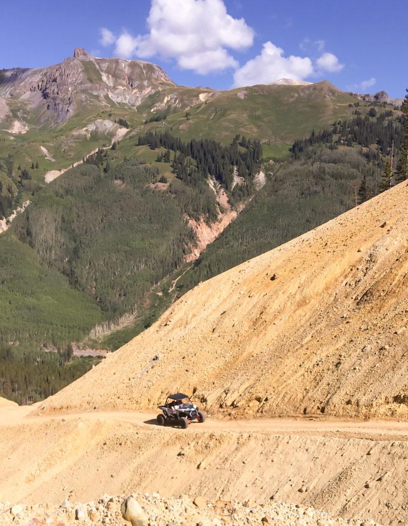 driving razrs through colorado mountains
