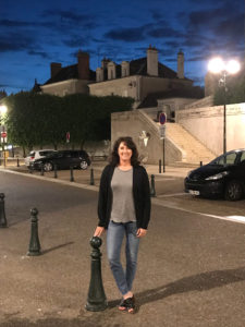 Taking an evening stroll after dining in Amboise France.