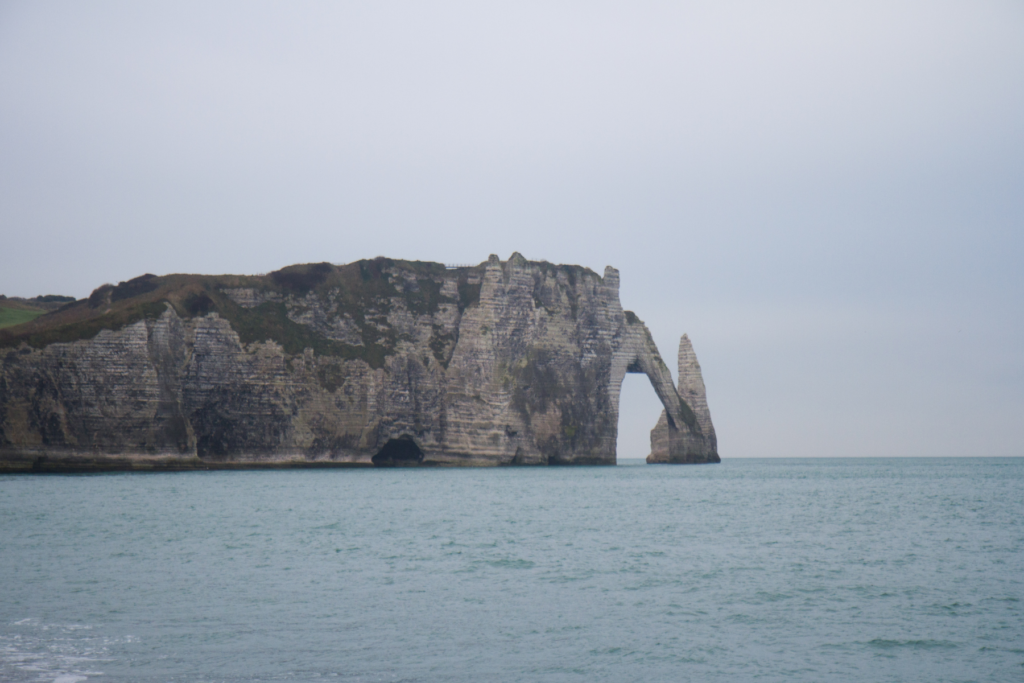 View of Etretat. Etretat is situated on the coast of Normandy. Not too far from the town of Bayeux.