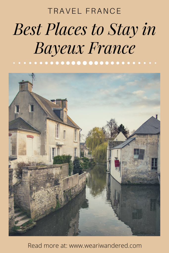 The little river that runs through the charming city of Bayeux France. Bayeux is a perfect place to stay to see the Normandy area of France. There are some wonderful hotels in Bayeux as well as some great bed and breakfasts.