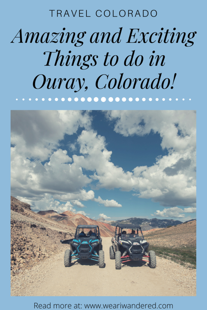 Riding UTVs in the mountains of Colorado is exhilarating...and a little scary! There are so many fun and exciting things to do in Ouray, Colorado!