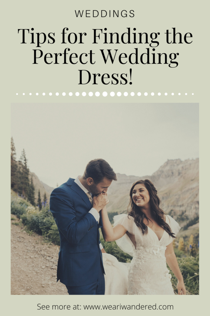 Elopement in the mountains of western Colorado in Yankee Boy Basin near Ouray, Colorado. No matter where you get married you want to feel beautiful. Here are some great tips for finding the perfect wedding dress!