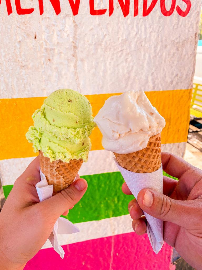 icecream in cones in cabo san lucas