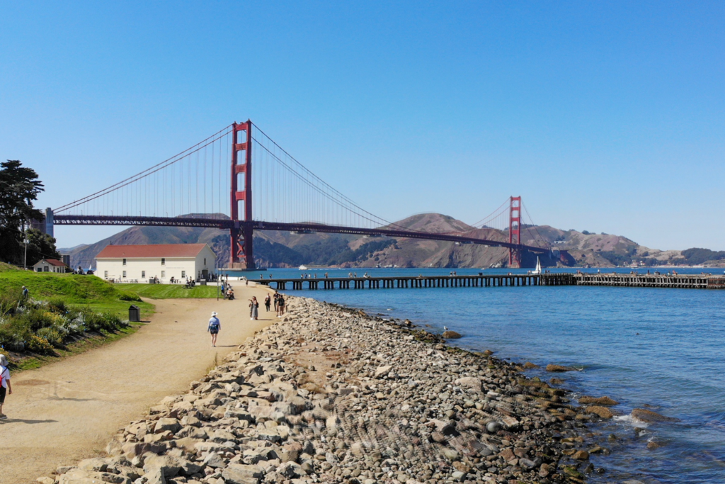 Crissy Field is one of the best places to see the Golden Gate Bridge.